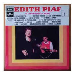 EDITH PIAF - L'ACCORDEONISTE A MILORD VOL 1 PLAK